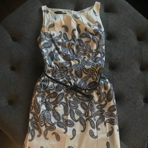 Nine West Fitted Paisley Dress